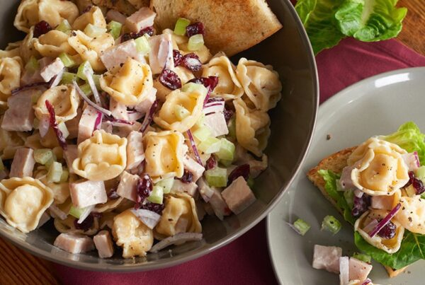 Deconstructed Turkey & Tortellini Salad Sandwich