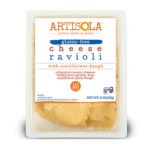 Gluten Free Cheese Ravioli with Cauliflower Dough