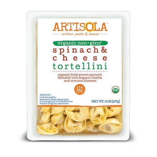 Organic Spinach & Cheese Tortellini