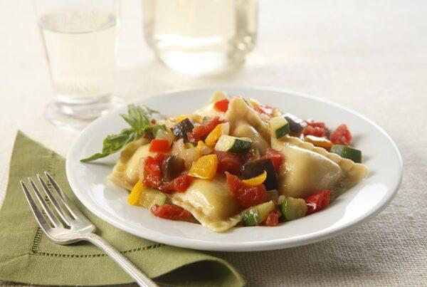 Organic Chicken & Mozzarella Ravioli Ratatouille